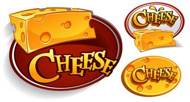 Logo-Designs mit Käse vektor