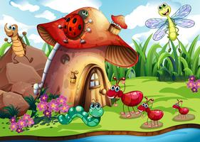 Insektenkolonie vektor