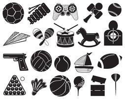 Doodle design av olika leksaker vektor