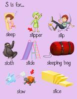 Många ord börjar med bokstaven S