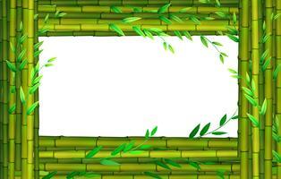 Grenzgestaltung mit Bambusstöcken vektor