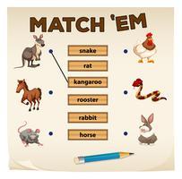 Matchande spel med många djur