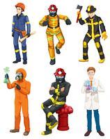 Männer mit verschiedenen Berufen vektor