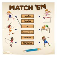 Matchande spel för sport