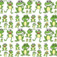 Nahtloser Frosch vektor