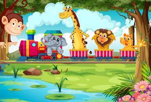 Tiere und Zug