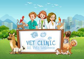 Nettes Haustier-Klinik-Willkommensschild
