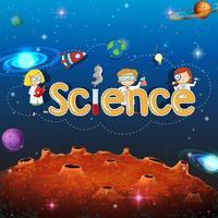 Wissenschafts-Banner auf Planet Vorlage