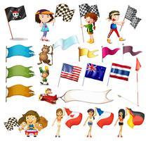 Flagguppsättning