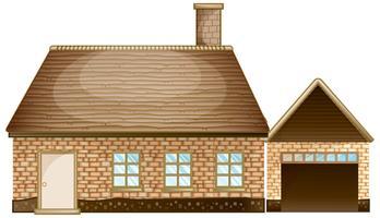 Backsteinhaus mit Garage vektor