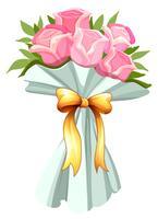 Ein Strauß rosa Rosen vektor