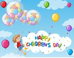 Happy Kindertag Hintergrund vektor