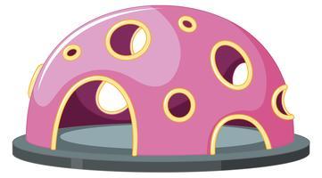 Pink climbing cubby lekplatsutrustning vektor