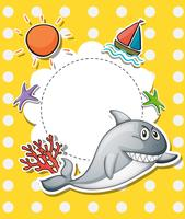 Ett brevpapper med en stor grå haj