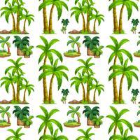 Sömlösa palmer och ö vektor