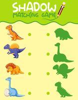 Dinosaur matchande skuggspel mall