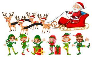 Eine Reihe von Weihnachtscharakter vektor