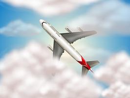 ett flygplan på himlen vektor