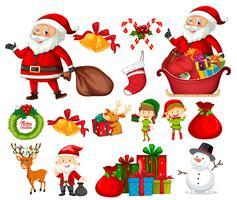 Set med julelement