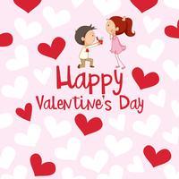 Kartenvorlage für den Valentinstag vektor