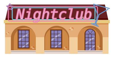 Ein Nachtclub auf weißem Hintergrund
