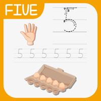Antal fem spårningsblad