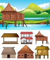 Set av olika hus