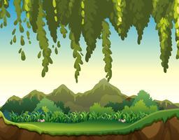 Vackert landskap med bergsutsikt vektor