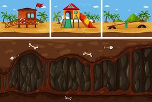 Ein Vektor von Land und Untergrund