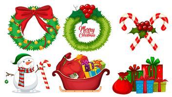 Eine Reihe von Weihnachtselement vektor