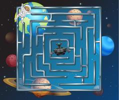 Ett rymdpussel labyrint spel vektor