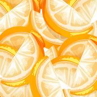 En Seamless Orange Frukt Bakgrund vektor