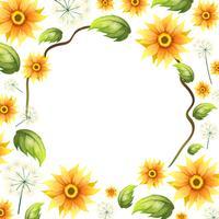 Ein schöner Sonnenblumenrahmen vektor