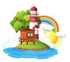 Leuchtturm auf einer schönen Insel