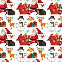 Weihnachtsmann nahtlose Muster