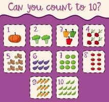 Mathematikkartenzahl 1 bis 10