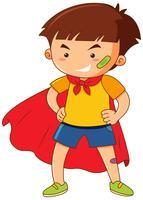 Kleiner Junge mit rotem Umhang vektor