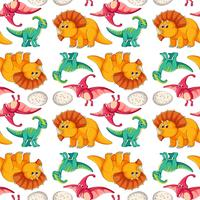 Dinosaur på sömlöst mönster vektor