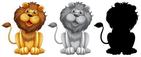 Set med lejonkaraktär