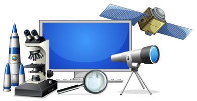 Eine Reihe von Forschungsausrüstungen