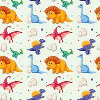 Dinosaurier auf nahtloses Muster vektor