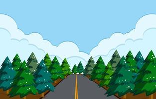 Eine schöne Straßenlandschaft vektor