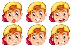 Junge mit verschiedenen Emotionen