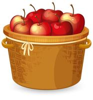 Rött äpple i korgen