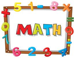 Rahmenvorlage mit Zahlen vektor