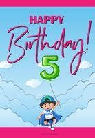 Grattis på födelsedagen i fem år vektor