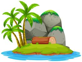 Isolerad ö på vit bakgrund