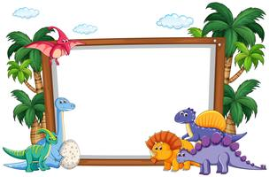 Dinosaurier auf leere Vorlage vektor