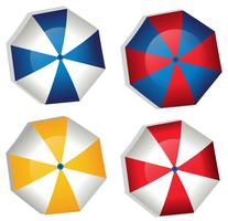 Ein Satz Regenschirm auf weißem Hintergrund vektor