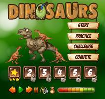 Spielvorlage mit Dinosaurier-Thema vektor
